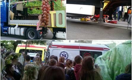 Wypadek podczas korowodu studenckiego w Lublinie