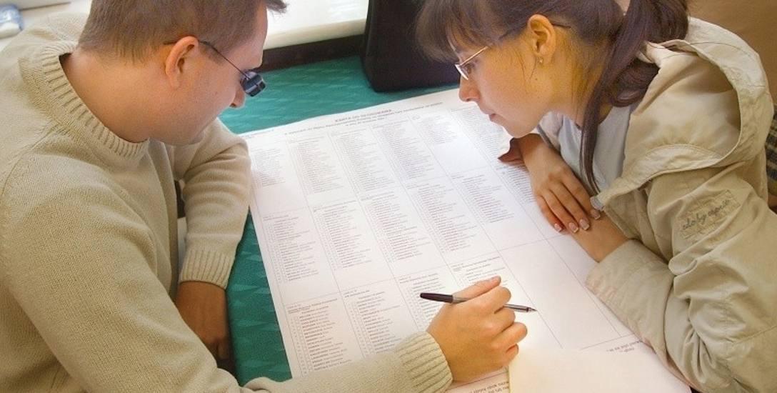 Karta do głosowania do Rady Miejskiej i Sejmiku Wojewódzkiego będzie mieć formę tzw. płachty