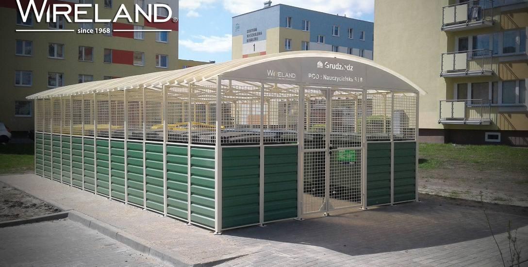 Wiaty śmietnikowe bytowskiej firmy Wireland. Solidne, estetyczne i bardzo praktyczne