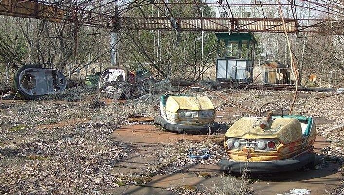 Opuszczony park rozrywki w Prypeci