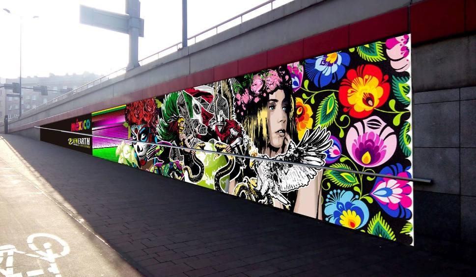 Film do artykułu: Kraków. Mural na rondzie Mogilskim pamiątką po festiwalu