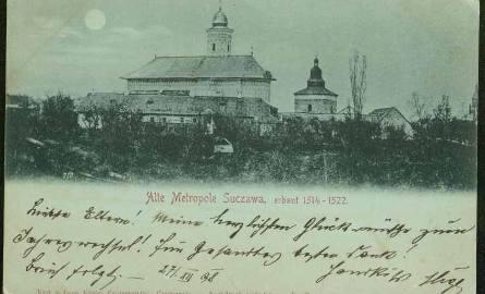 Kartka pocztowa z 1938 r. z widokiem na Suczawę