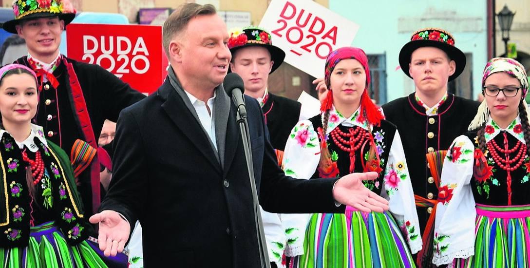 Andrzej Duda na początku swojej kampanii odwiedził Łowicz