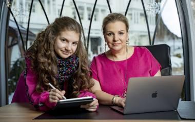 Na zdjęciu: Aleksandra Wolska wraz z córką