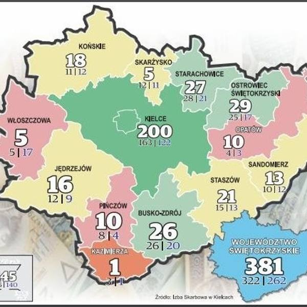 Świętokrzyscy milionerzy. Zobacz gdzie mieszkają (MAPA)