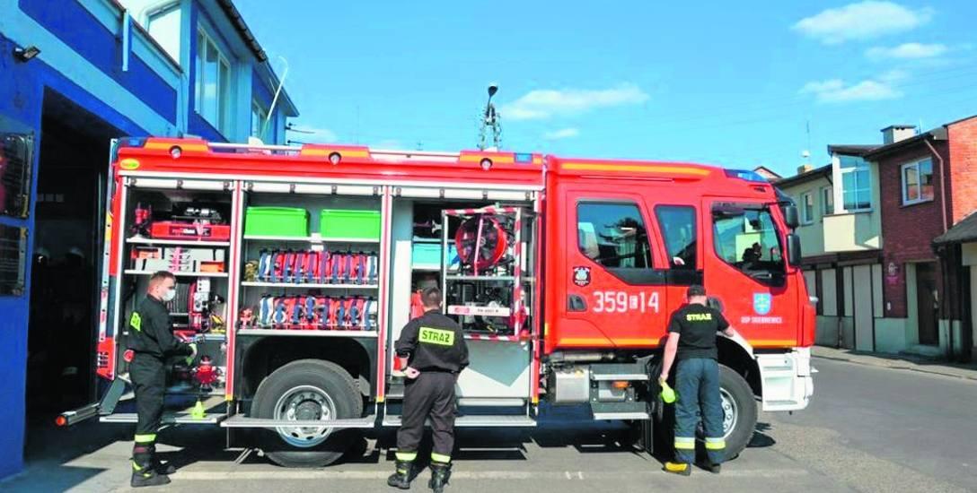 Skierniewickim strażakom doszły nowe obowiązki, a wszystko przez koronawirusa