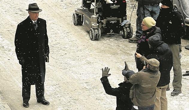A tu plan filmowy na ulicy Kurkowej we Wrocławiu. Prawie rok temu, 19 listopada. Dwudziesty dziewiąty film Stevena Spielberga (klęczy po prawej stronie,