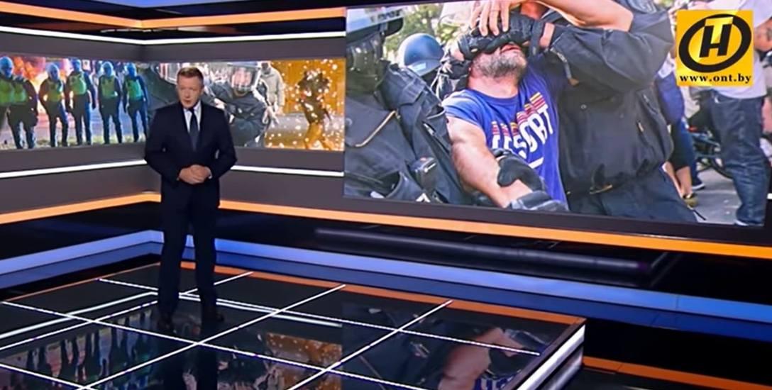 W programie białoruskiej telewizji prezenter sugerował, że jednostka z Bydgoszczy wywiera wpływ na sytuację polityczną