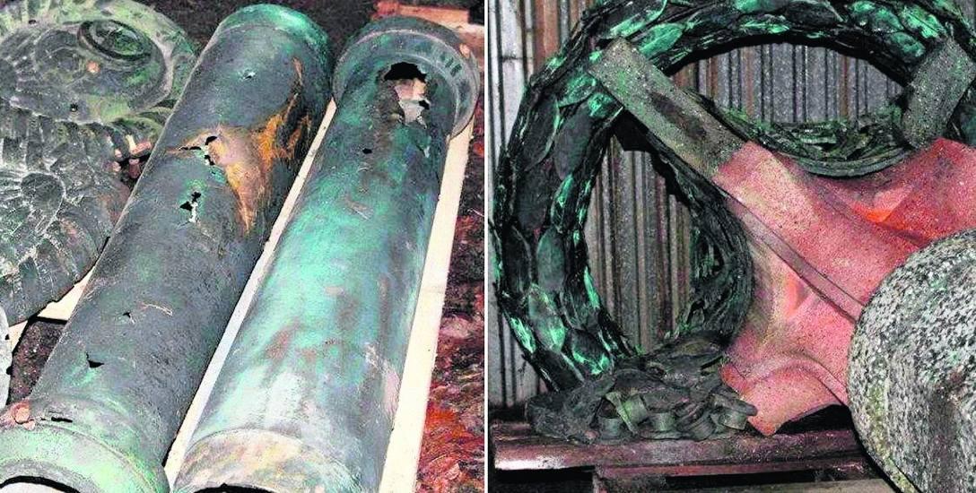 Odzyskane części kolumny składowane są w stacji wodociągowej, ujęcia i uzdatniania wody MPGK w Stargardzie, przy ul. Warszawskiej 24