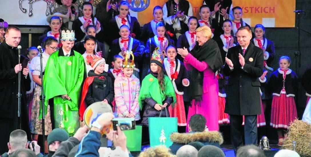 Para prezydencka podczas Święta Trzech Króli w Skoczowie.