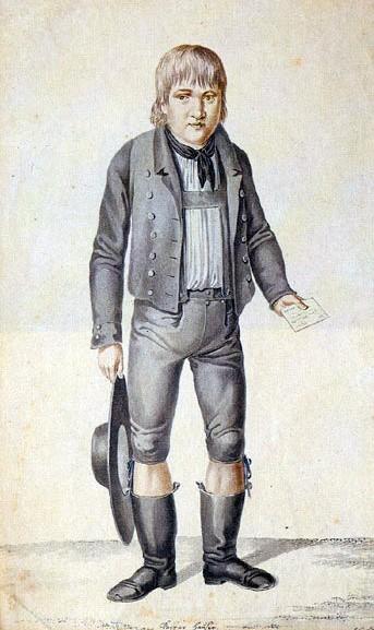 Grafika przedstawiająca Kaspara Hausera