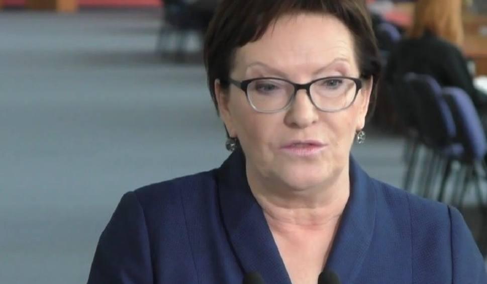 Film do artykułu: Premier Ewa Kopacz: - Będę debatować z Beatą Szydło, skoro nie chce prezes