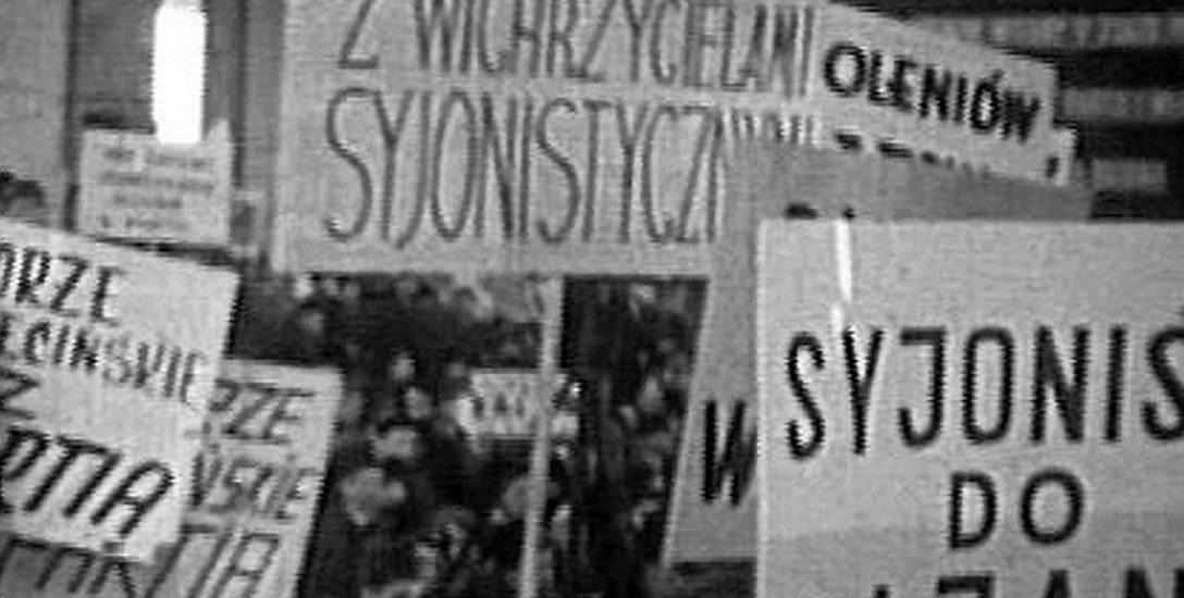 Po protestach studenckich władze organizowały (tu w Stoczni Szczecińskiej) wiece poparcia dla PZPR i nagonki na Żydów
