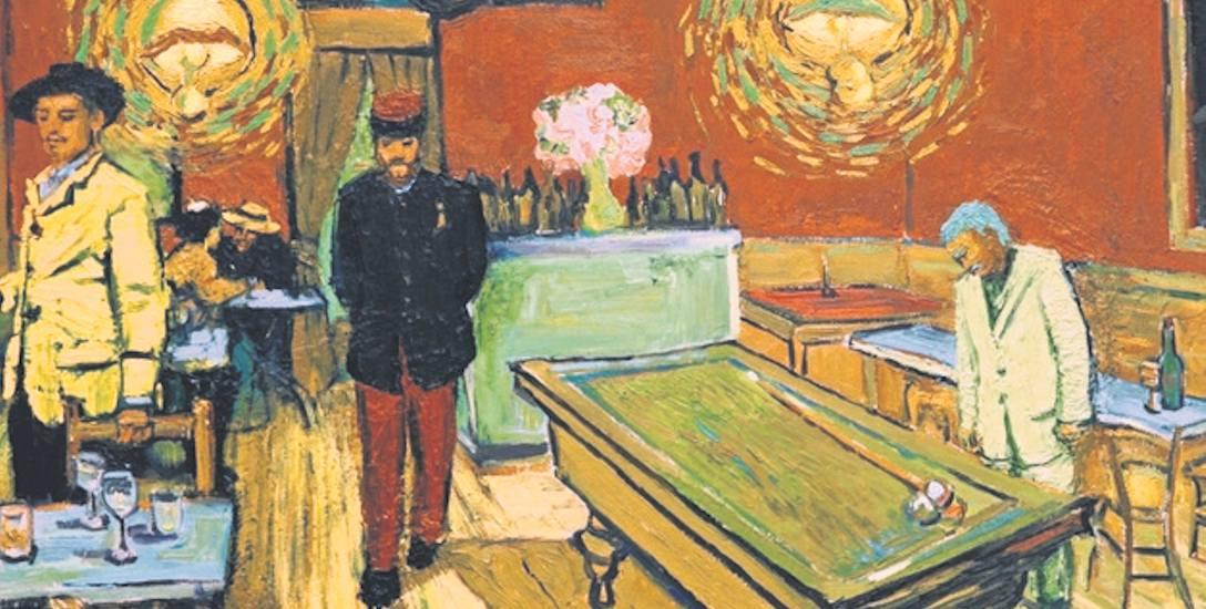 Armand Roulin (pierwszy z lewej) w nocnej kawiarni