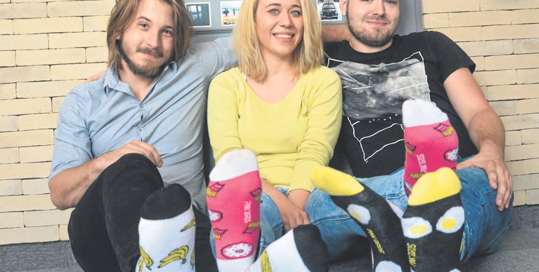 Karol Łokaj, Karolina Nucia i Paweł Młynarski z Pink Birds