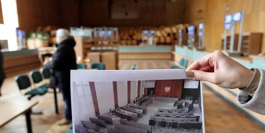 Tak mogłaby wyglądać nowa sala sesyjna  w pomieszczeniu po byłej filharmonii przy pl. Armii Krajowej 1. Pomysł trafi do realizacji jeśli radni przyjmą