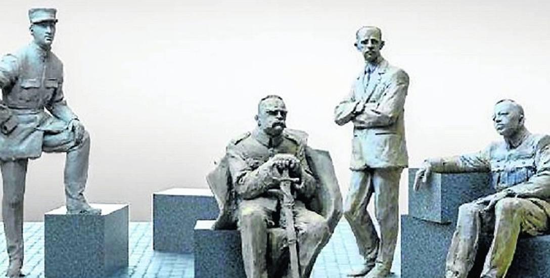 Pomnik będzie przedstawiał postaci - Józefa Piłsudskiego, Charles'a de Gaulle'a, Pala Telekiego i Symona Petlury