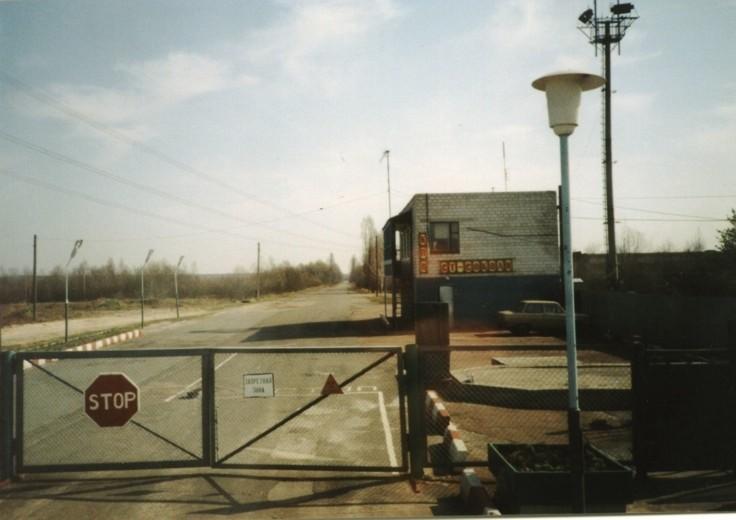 Wjazd do strefy zamkniętej wokół elektrowni