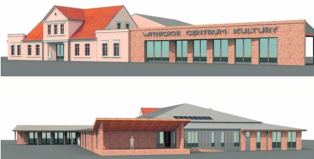 Tak będzie wyglądał Miejski Dom Kultury w Witnicy po przebudowie, czyli za około dwa lata