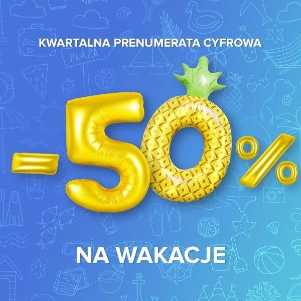 Wakacje 50% taniej!