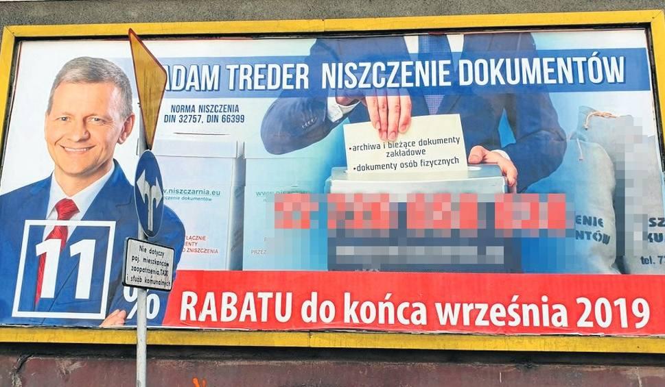 Film do artykułu: Reklama firmy Adama Tredera jak bilbord wyborczy