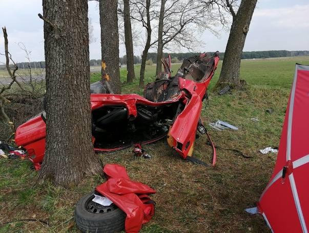 Do wypadku na DK doszło w poniedziałek po godz. 12,3  km za miejscowością Boćki w kierunku Dziadkowic. Zdjęcia dzięki uprzejmości KSRG OSP Boćkii;nf