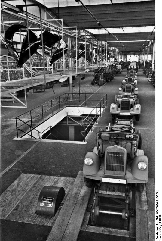Opel Blitz z fabryki w Brandenburgu trafiały do służby w Wehrmachcie
