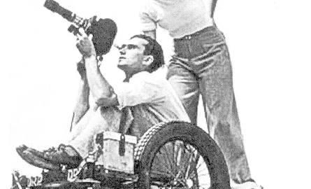 """Riefenstahl podczas kręcenia dzieła życia - """"Olimpiady"""". Miała nieograniczony budżet i 40 operatorów."""