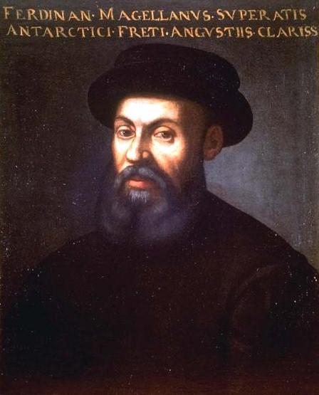Ferdynand Magellan urodził się wiosną 1480. Był portugalskim żeglarzem w służbie hiszpańskiej. Nazwał Ocean Spokojny (Pacyfik). Zginął 27 kwietnia 1521
