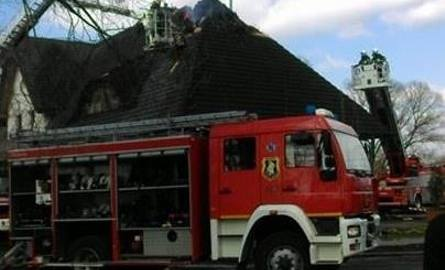 Pożar restauracji w Chudowie