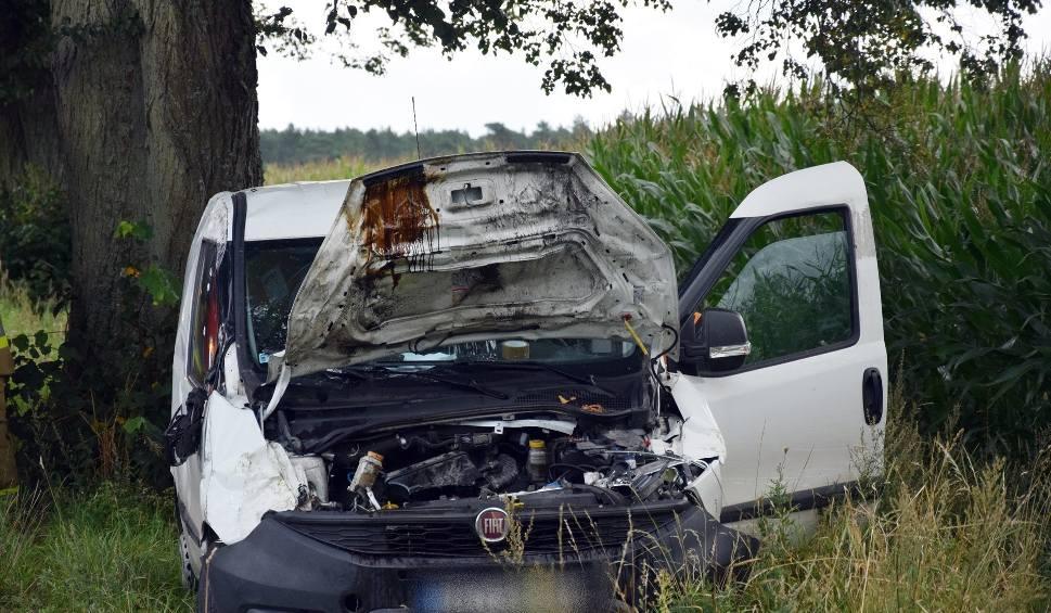 Film do artykułu: Wypadek na drodze powiatowej koło Dretynia (wideo, zdjęcia)