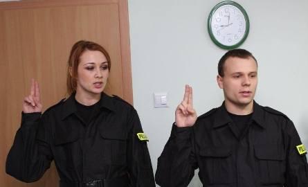 KPP Mońki: Nowi policjanci złożyli ślubowanie