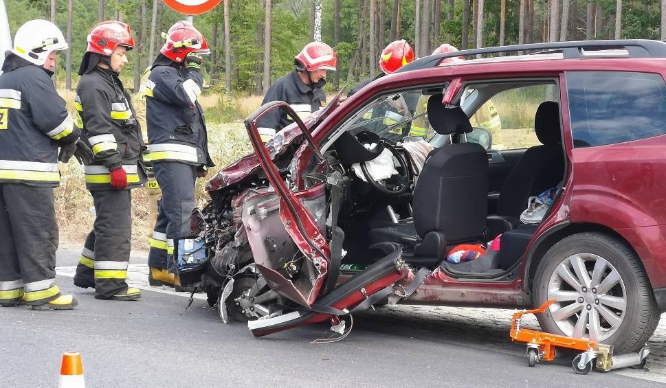 Film do artykułu: Wypadek w powiecie świeckim. Zderzyły się cztery auta. Są utrudnienia w ruchu