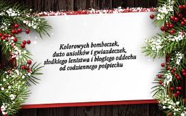 Piękne życzenia świąteczne Na Boże Narodzenie Tradycyjne I Wesołe