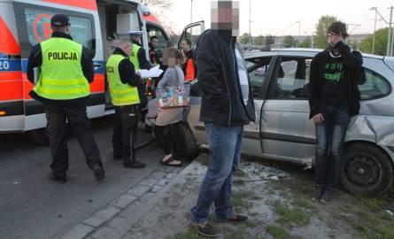 Wypadek renault na pl. Społecznym, Wrocław, 02.05.2016