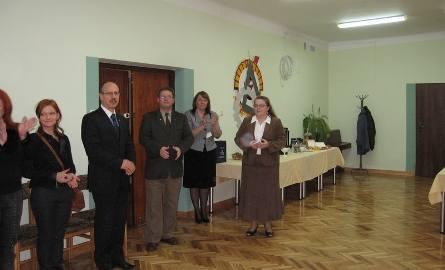 Gości powitała Bernadeta Kudas, dyrektor Zespołu Szkół Technicznych