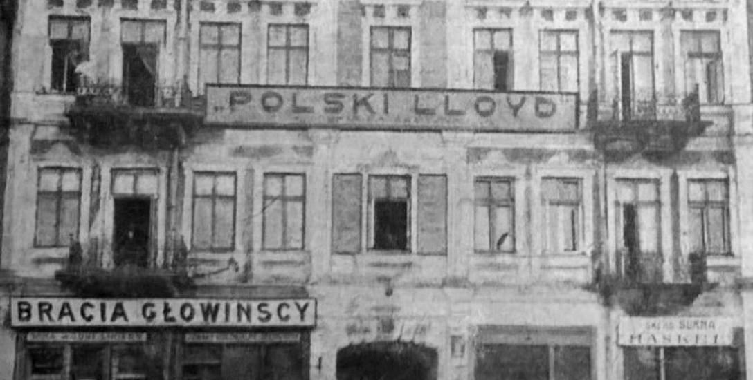 Kamienica przy Rynku Kościuszki 9, w której mieściła się siedziba Polskiego Lloyda. 1921 rok. Fot. z Białystok Ilustrowany.