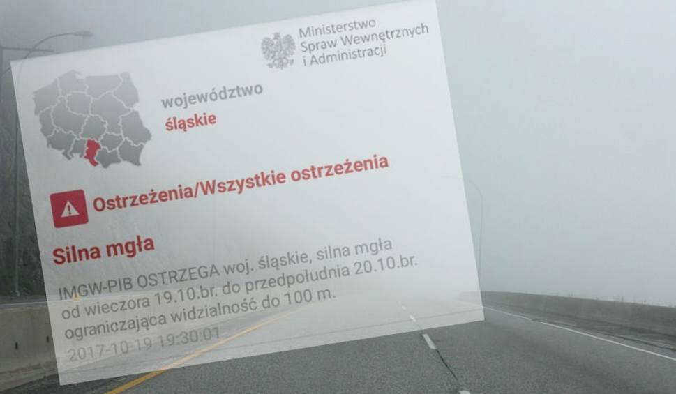 Film do artykułu: Silna mgła w woj. śląskim. Kierowcy, uważajcie na drogach. Widoczność może spaść do 100 metrów