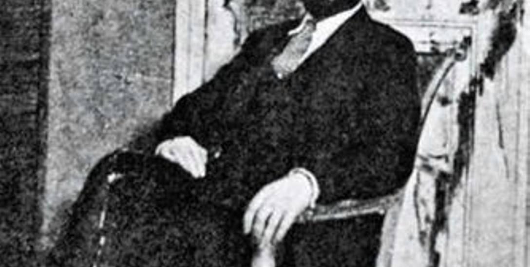 Leopold Zborowski natle portretu Chaima Soutine'a, który na drzwiach namalował Modigliani