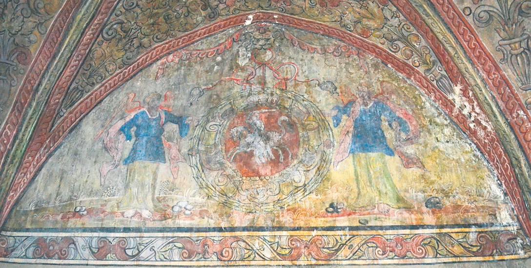 Odpadająca farba na XVI-wiecznych malowidłach