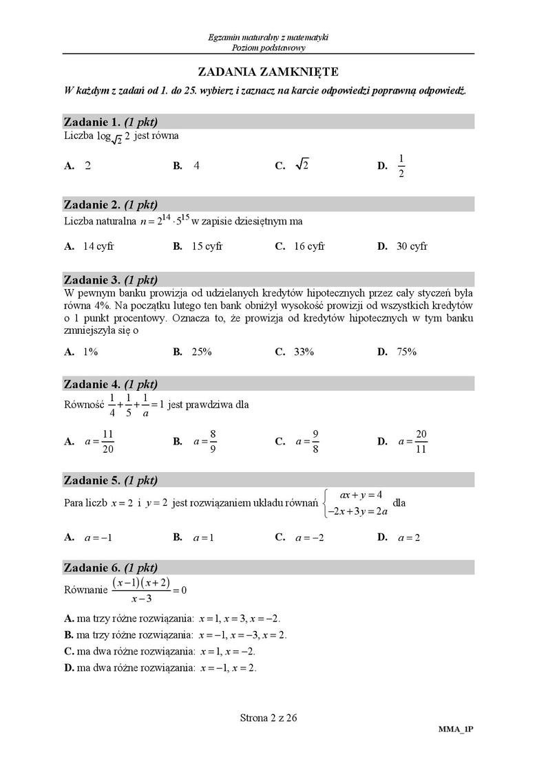 matura 2021 sierpień matematyka odpowiedzi