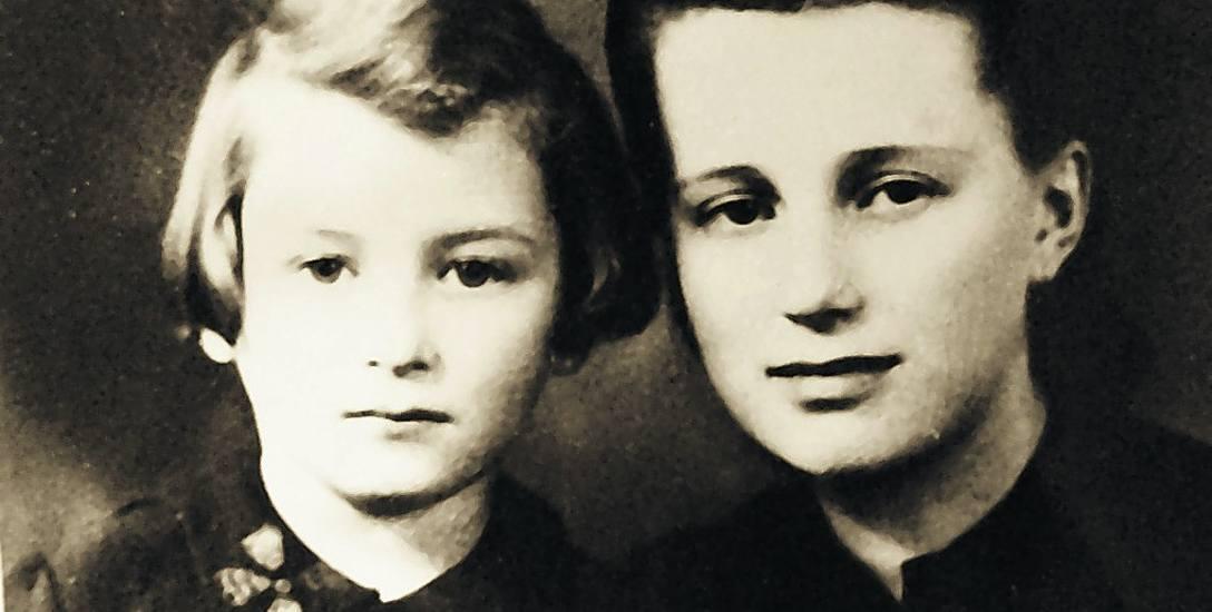Lusia Kałuszyner (z lewej) i Kazimiera Nowak na zdjęciu z 1946 roku, które zrobiły sobie na  pamiątkę przed wyjazdem Lusi z matką do Palestyny. Dzięki