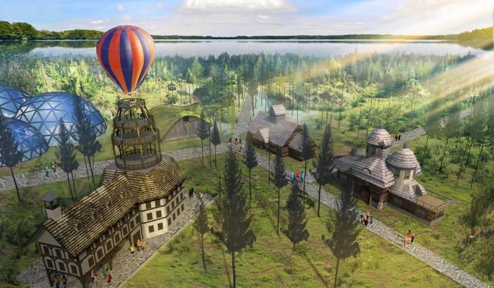 Film do artykułu: Wielka inwestycja nad Sielpią. Wieża z balonem, basen jak egzotyczna wyspa i domki na drzewie. Nad zalewem powstanie Holiday Park