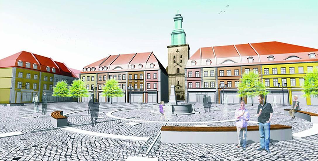 Fontanna, rynek, nowe kamienice. Tak w przyszłości ma wyglądać dolna część miasta.