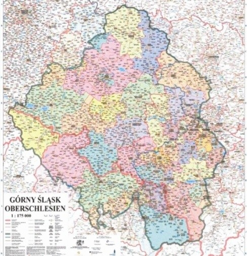 Mapa Górnego Śląska., fot. fot. Archiwum - 30 czerwca 2010