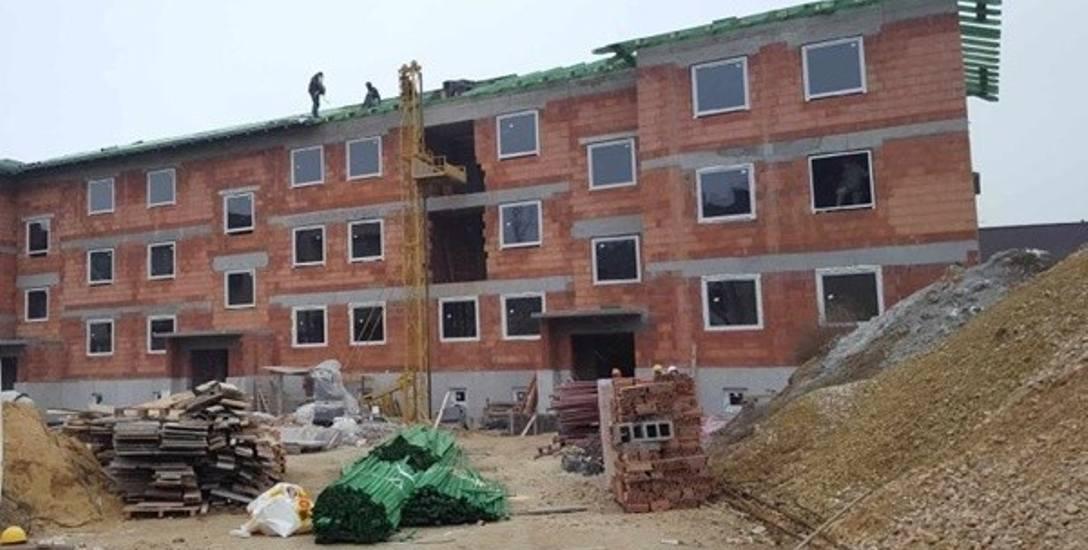 Budowa bloku przy Kontkiewicza