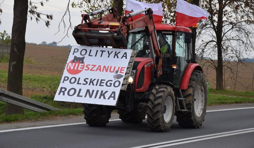 Film do artykułu: Protest rolników pod Kłobuckiem przeciwko piątce dla zwierząt. Traktory wyjechały na drogi w powiecie lublinieckim i kłobuckim