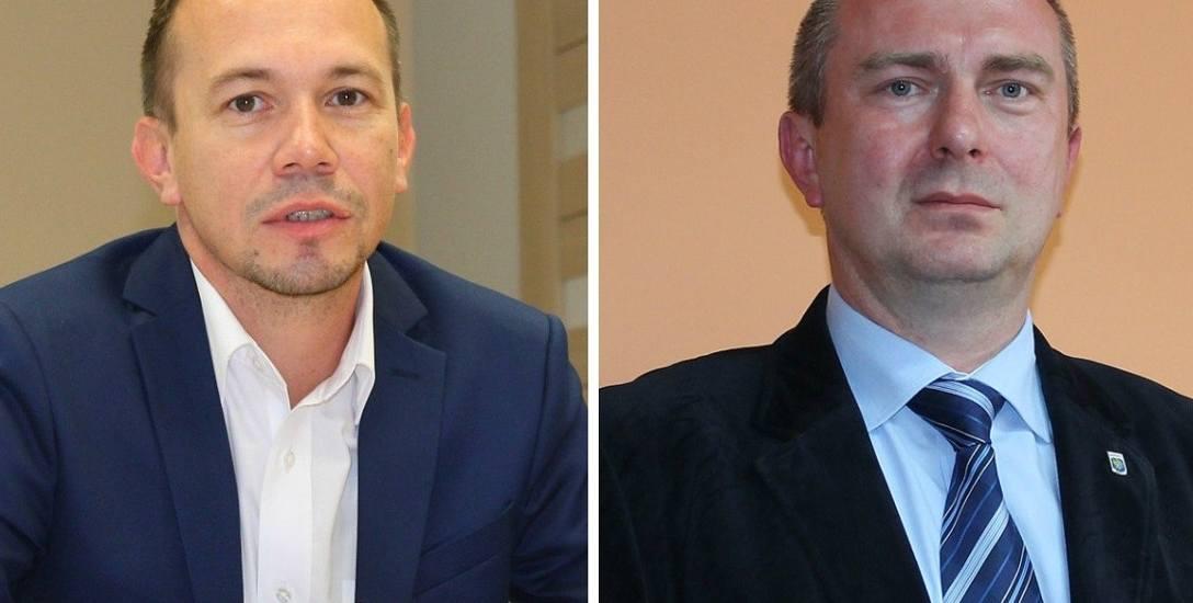 Maciej Sonik, starosta krapkowicki (z lewej) i Andrzej Kasiura, burmistrz Krapkowic.