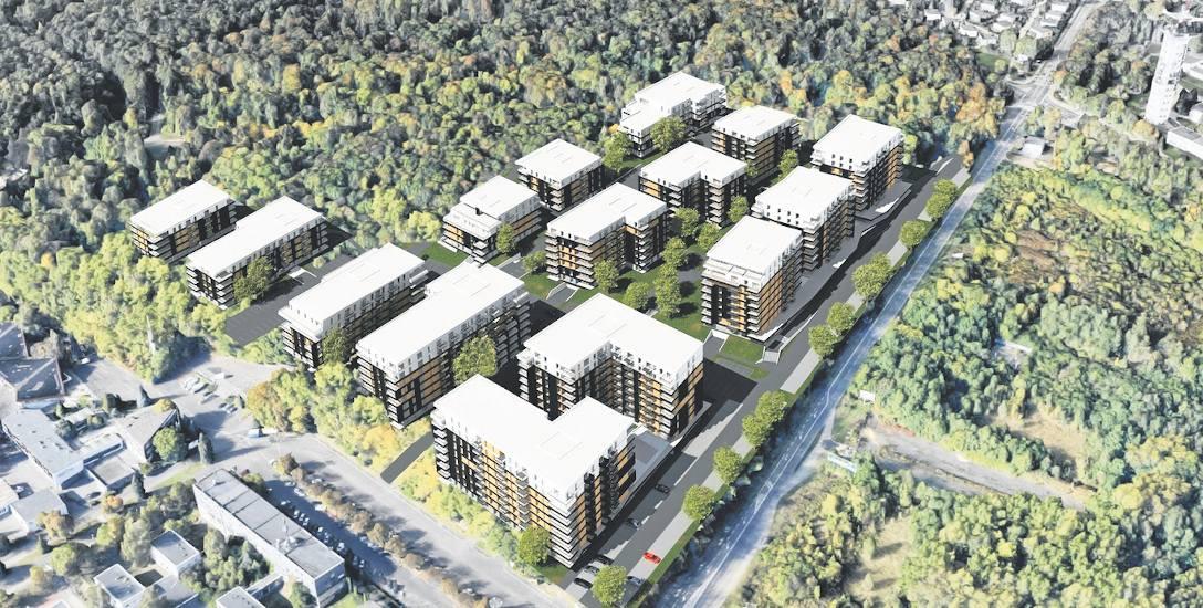 Wizualizacja osiedla planowanego przez spółkę Green Park Silesia, które miałoby powstać przy ul. Targowej