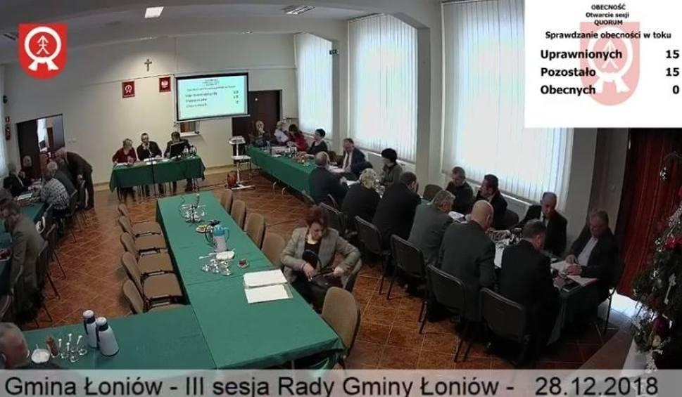 Film do artykułu: W czwartek, 21 lutego sesja Rady Gminy Łoniów [TRANSMISJA]